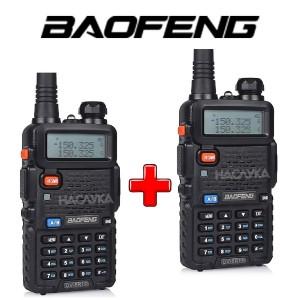 Комплект 2 броя професионални радиостанции Baofeng UV-5R Dual Band