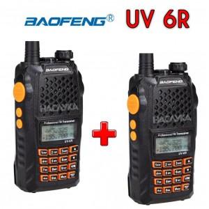 Комплект 2 броя професионални радиостанции Baofeng UV-6R