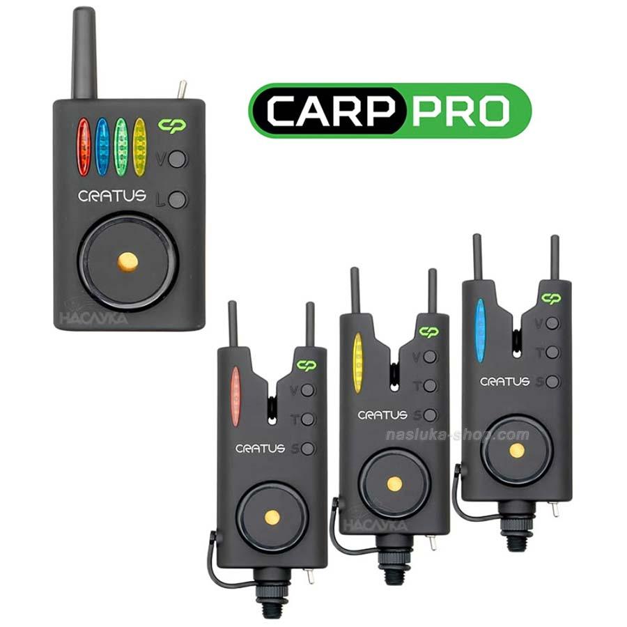Комплект шарански сигнализатори Carp Pro Cratus 3+1