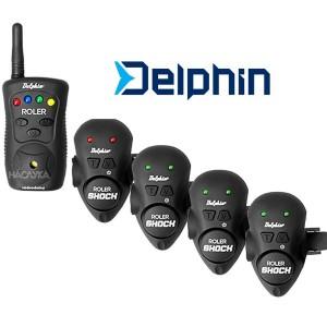 Комплект сигнализатори за въдица Delphin Roler Shock 4+1