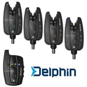 Комплект сигнализатори за шарански риболов Delphin Totem 4+1