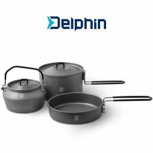 Мултифункционален къмпинг комплект Delphin Camp Ware 3in1