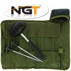 Колчета за палатка с чук NGT Bivvy Pegs and Mallet