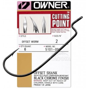 Офсетни куки Owner Offset Worm Shank 5101