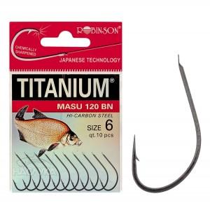 Куки за платика и каракуда Titanium Masu 120 BN