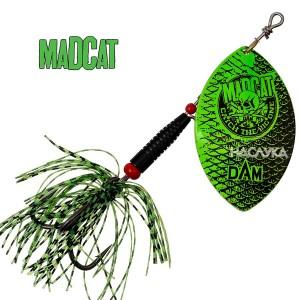 Въртяща блесна за сом MADCAT Big Blade Spinners - Fluo Green