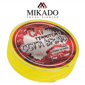 Плетено влакно за сом Mikado Cat Territory Octa Braid - Fluo 150м