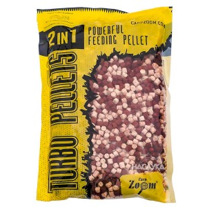 Пелети Carp Zoom Turbo Pellets 2in1 - Spice-Garlic / Люто-Чесън