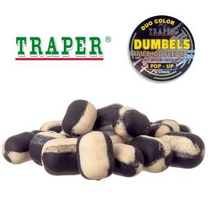 Плуващи дъмбели Traper Dumpels Pop-Up Method Feeder - Халибут и Чесън