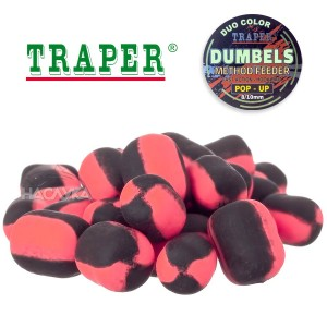 Плуващи дъмбели Traper Dumpels Pop-Up Method Feeder - Халибут и Рак