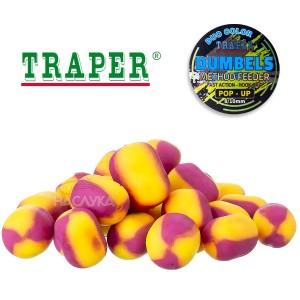 Плуващи дъмбели Traper Dumpels Pop-Up Method Feeder - Тигров фъстък и Сладка царевица