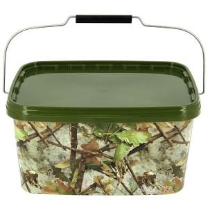 Кофа с капак NGT Square Camo Bucket - 5 литра