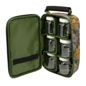 Чанта с контейнери за дипове и стръв NGT