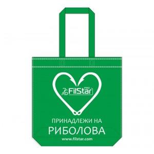 Чанта-торба от плат Filstar, зелен цвят