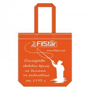 Чанта-торба от плат Filstar, оранжев цвят