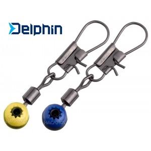 Вирбел с карабинка за фидер риболов Delphin Runner
