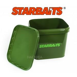 Квадратна кофа с капак Starbaits - 3.5 литра