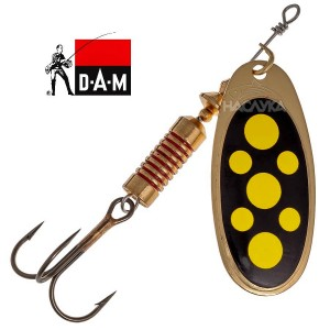 Блесна D.A.M. Effzett Spinner - Blackly Yellow Dots