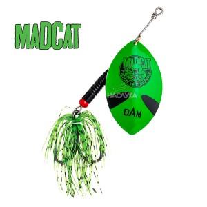 Въртяща блесна за сом MADCAT Big Blade Spinners - Green