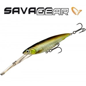 Воблер Savage Gear Iron Mask Deep Diver - цвят Green Silver