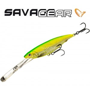 Воблер Savage Gear Iron Mask Deep Diver - цвят Green Flash