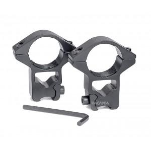 Стойка за пушка - висок монтаж с просвет за монтиране на оптика, фенер, лазерен прицел, бързомер