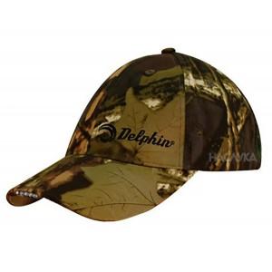 Светеща шапка с козирка и LED диоди Delphin