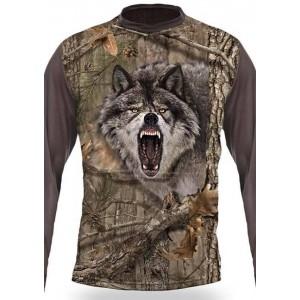 3D Тениска с дълъг ръкав Вълк
