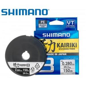 Плетено влакно Shimano Kairiki Steel Gray - 150м