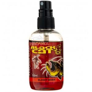 Спрей за сом Black Cat Bloody Worm - Земен червей