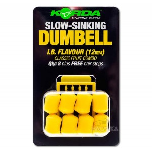 Ароматизирани дъмбели Korda Slow-Sinking Dumbell - I.B. Flavour