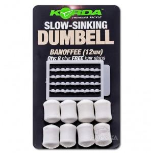 Ароматизирани дъмбели Korda Slow-Sinking Dumbell - Banoffee