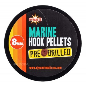 Пелети за стръв Dynamite Baits Hook Pellets Pre-Drilled - Marine
