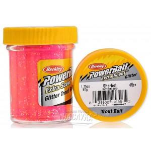 Плуваща паста за пъстърва Berkley Powerbait Extra Scent Glitter - Sherbet